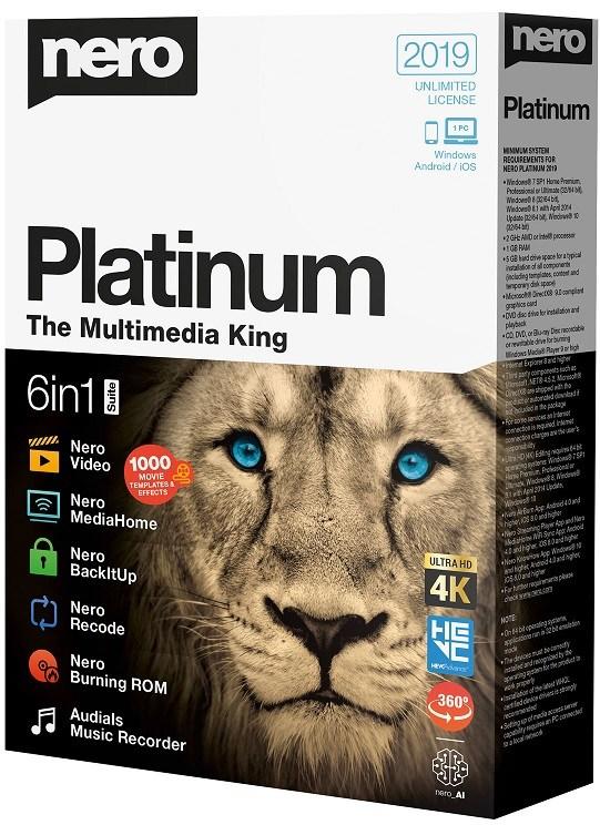 Nero Platinum 2020 Crack + License key Download Full Version
